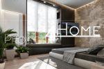 Проект коттеджа 272 м2 (интерьер 1-го этажа) - мастер-спальня