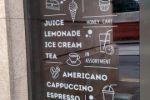 Наклейки наружние для Чashka loft cafe