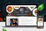 Дизайн сайта ресторана восточной кухни