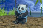 Панда играющая на японской скрипке