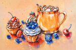 Кексы с ягодами