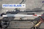 Transportation of wind blades, Barrus, July 2020, video
