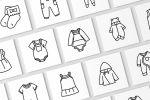 """Набор иконок """"Детская одежда"""""""