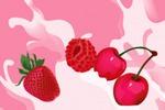 Векторная отрисовка ягод для упаковки