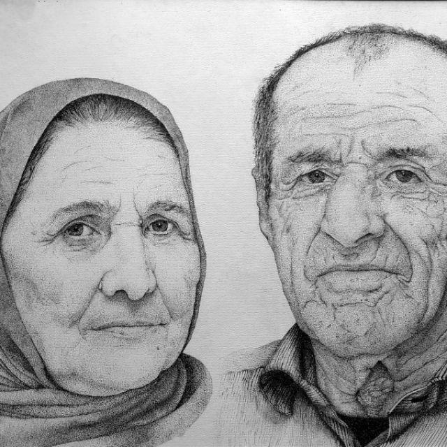 Портер пожилой пары