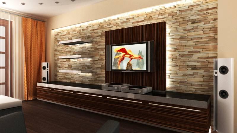 Интерьер и мебель гостиной комнаты