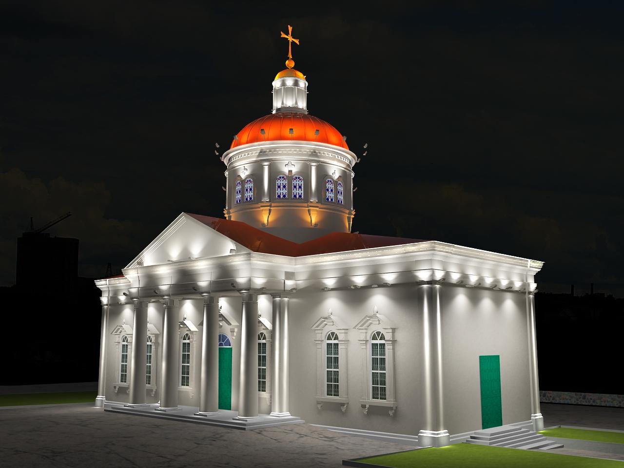 Дизайн-проект освещения комплекса Сурб-Хач в г. Ростов-на-Дону