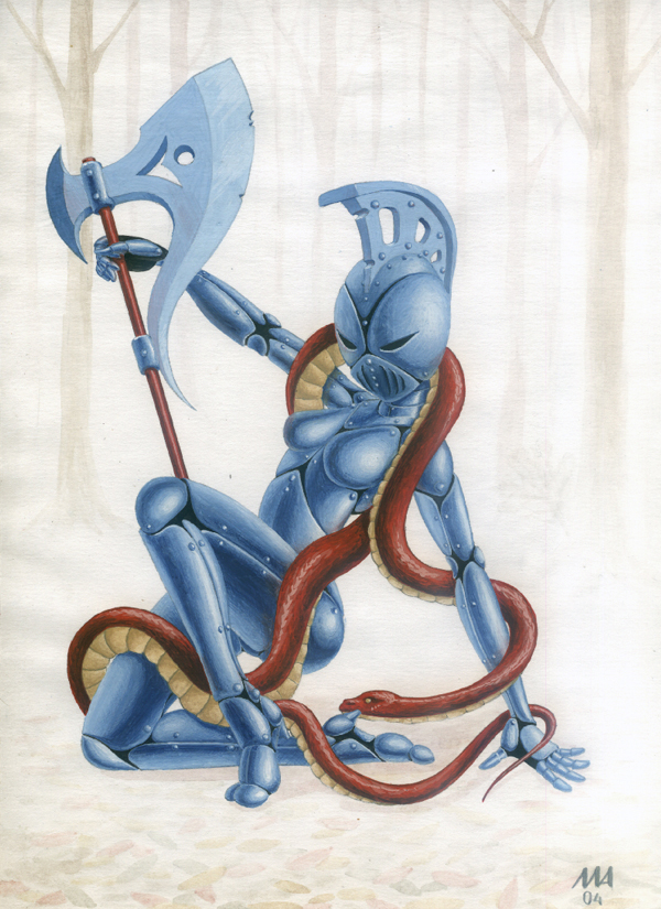 Стажница со змеей