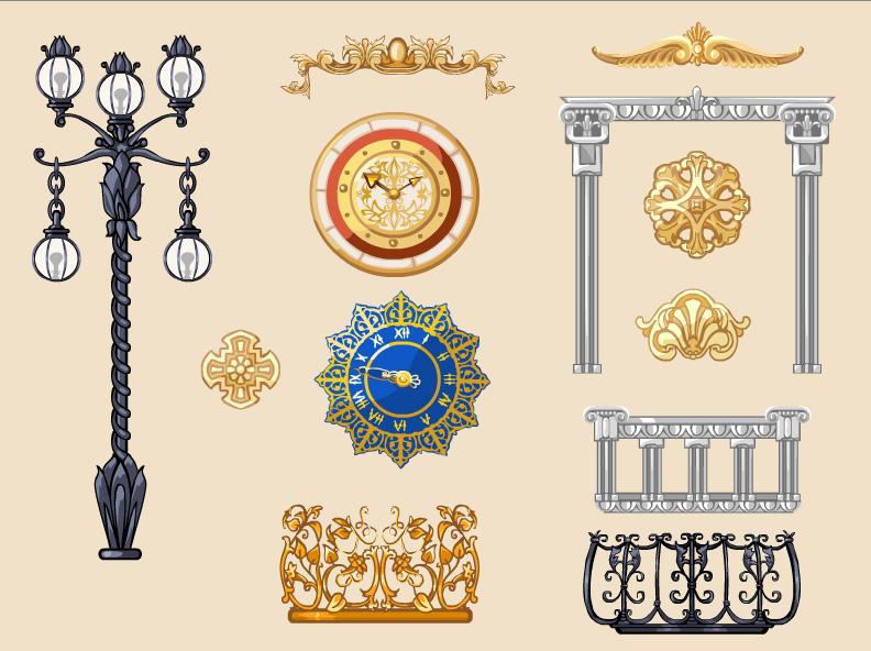 Декоративные элементы, Цветочная Усадьба