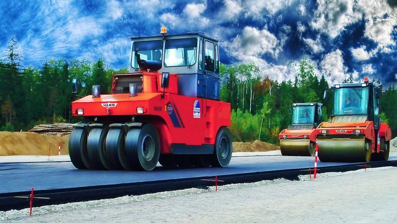 Коллаж для сайта о ремонте дорог.
