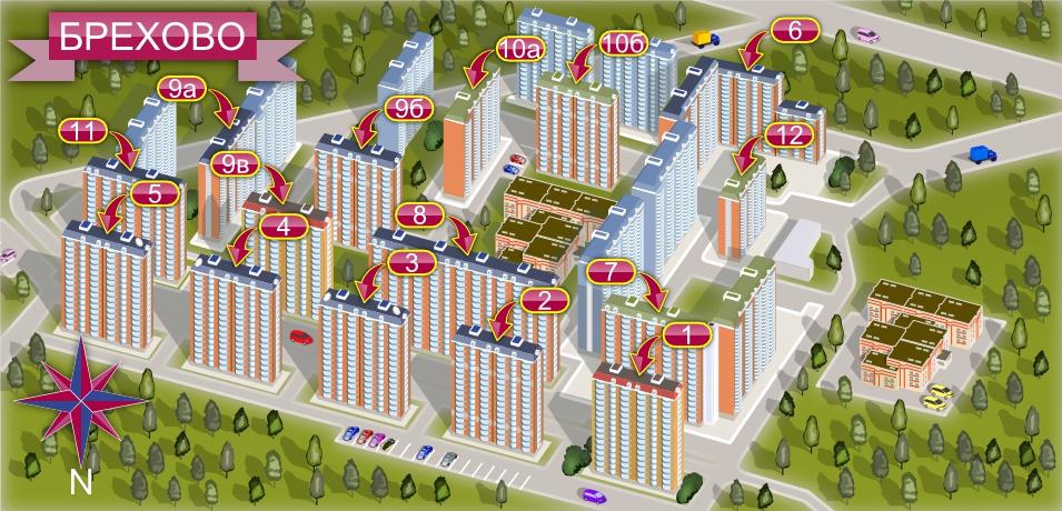Визуальная карта-схема района