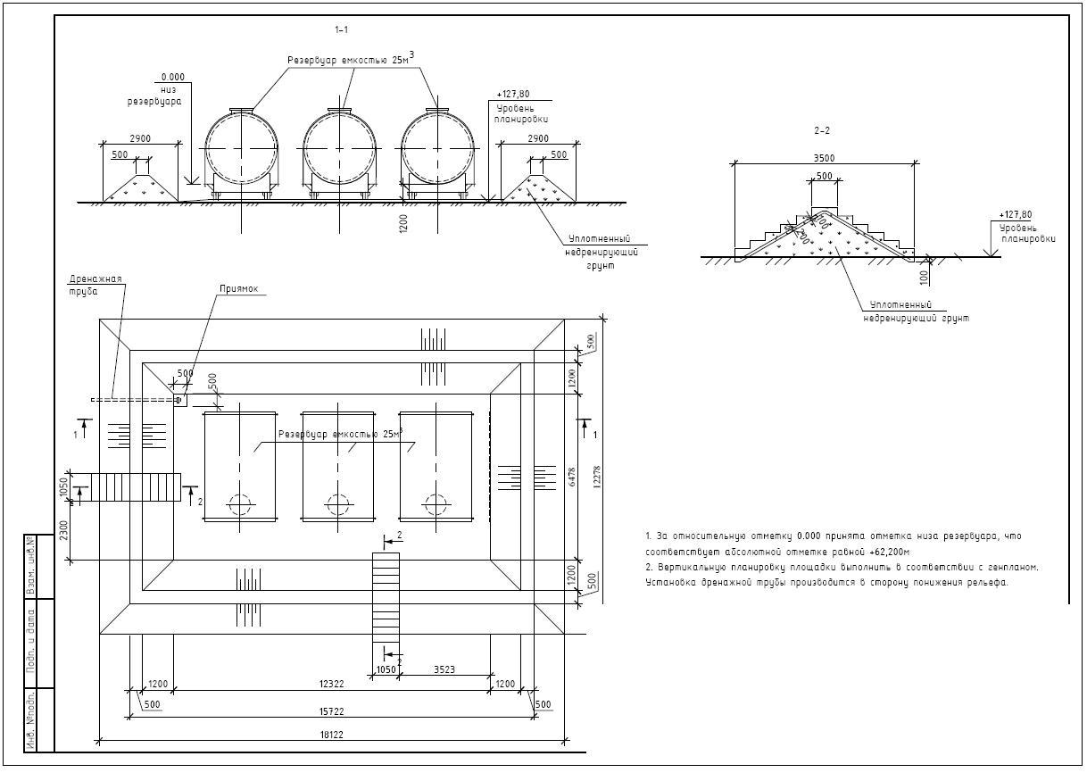 Схема установки емкостей