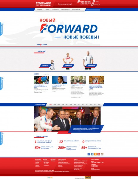 Доработка функционала сайта Forward - Sport