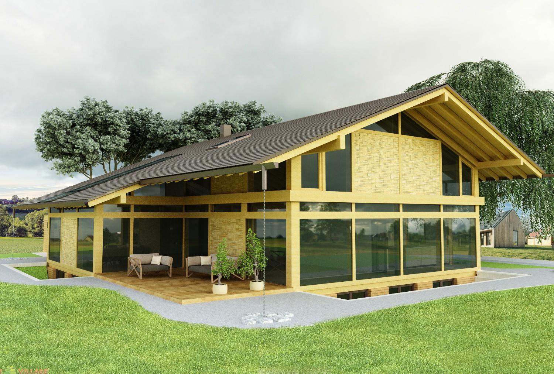 Проект коттеджа из деревянных конструкций
