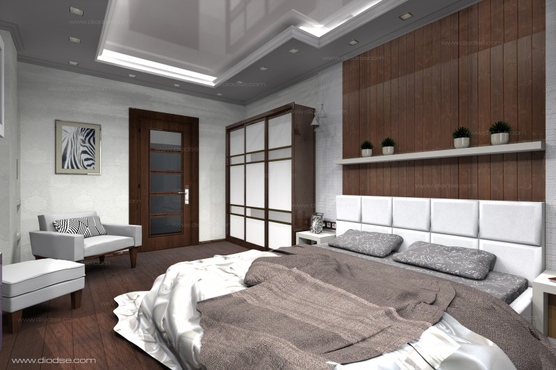 Дизайн проект 1-к квартиры г. Санкт-Петербург.Спальная