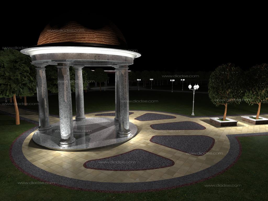 Декоративная подсветка малых архитектурных форм