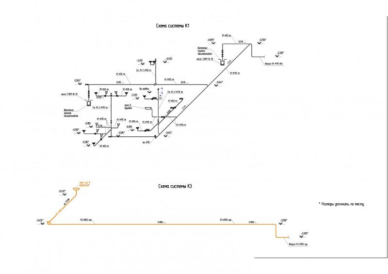 Схемы систем К1 и К3