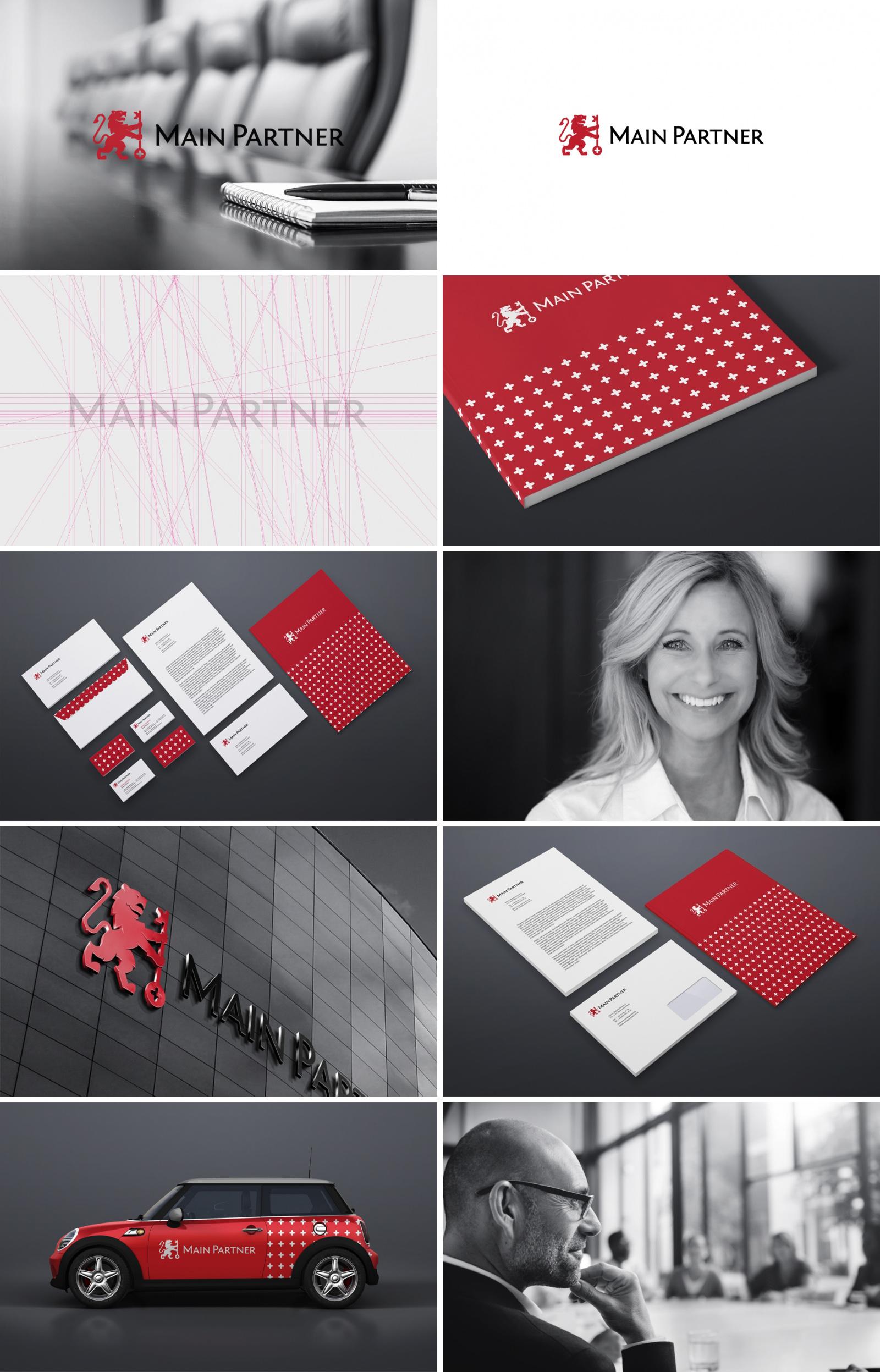 Фирменный стиль для финансовой компании «Main Partner»