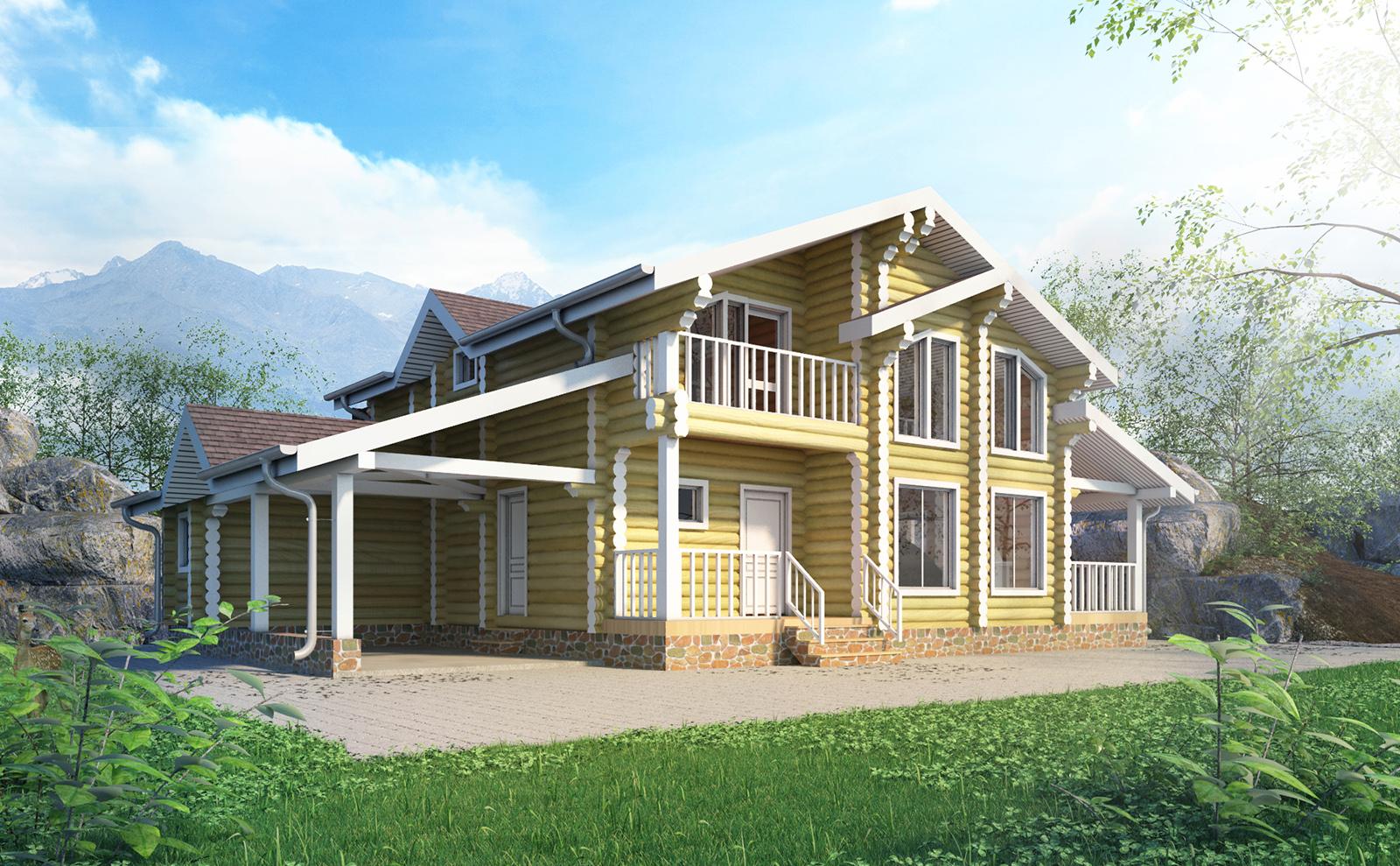 3d rendering/ Lumber house F240
