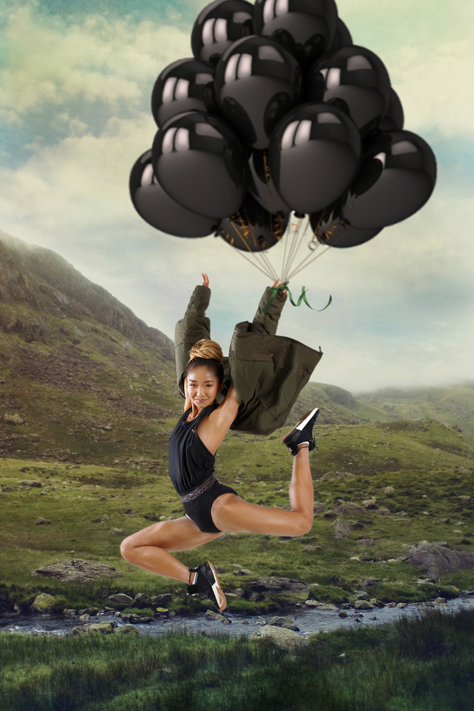 Полет на шариках