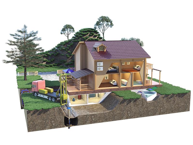 Схема подключения водяной скважины