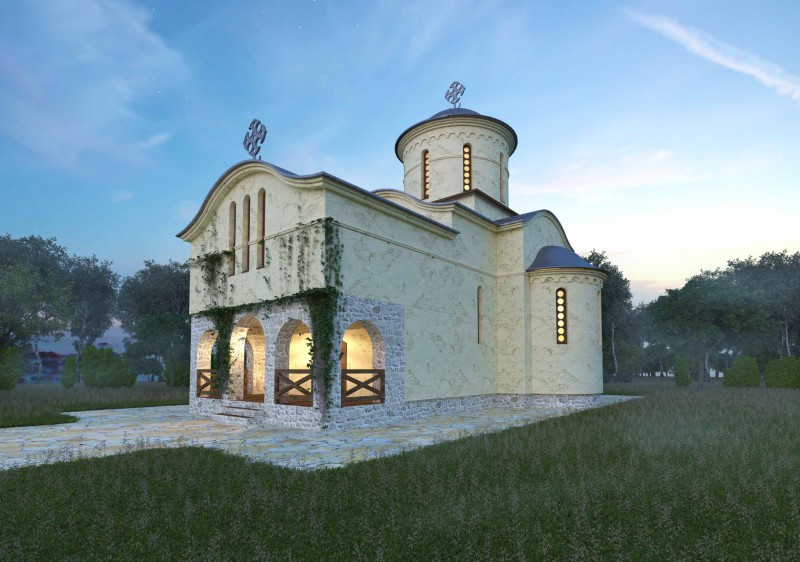 Проект и виз храма в византийском стиле