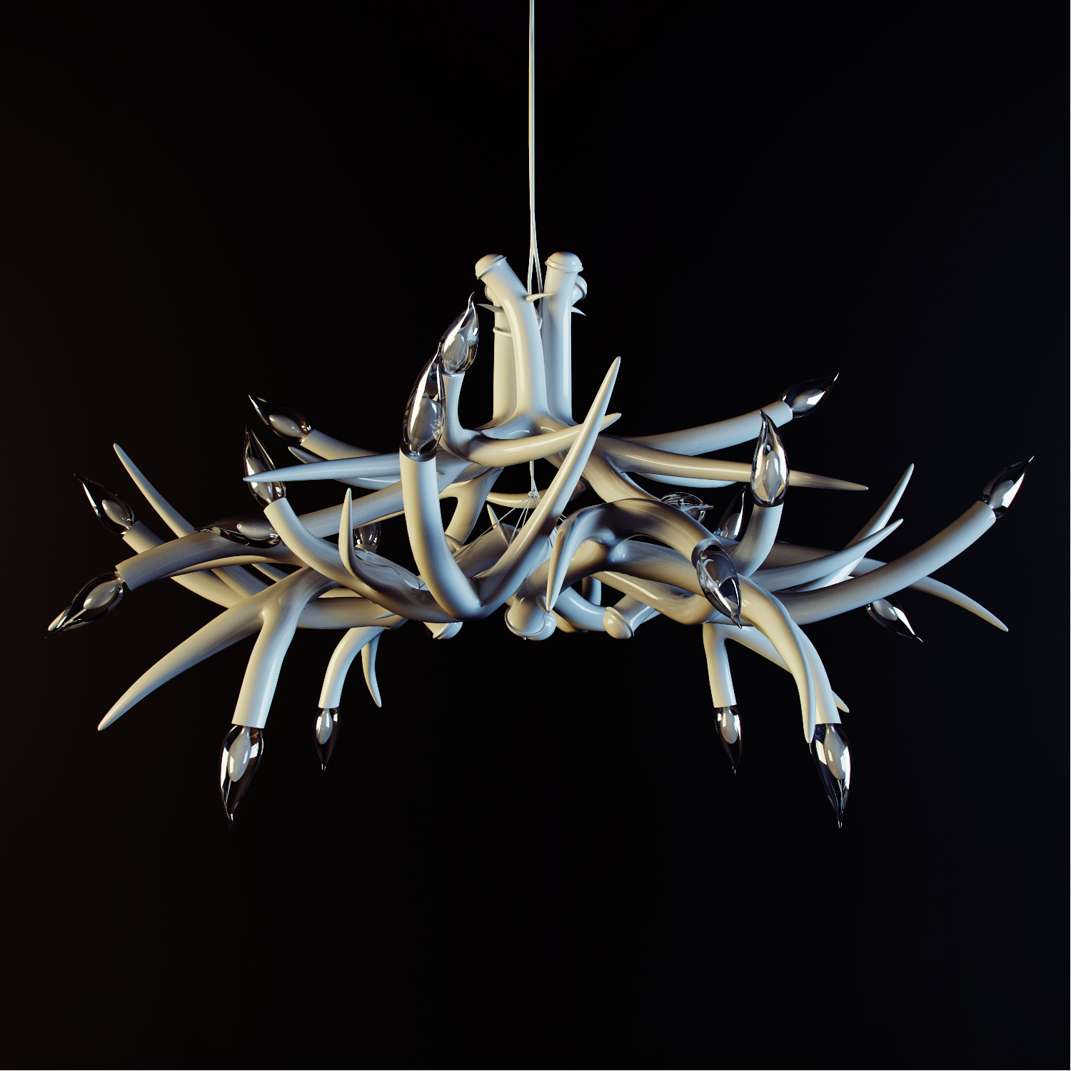 Superordinate Antler Lamps by Jason Miller