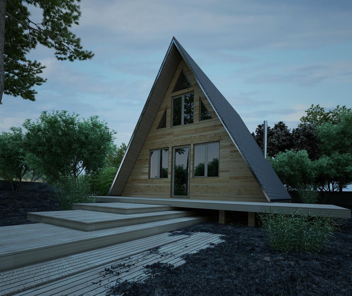 Проект небольшого каркасного здания
