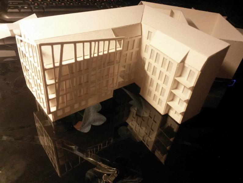 Макет жилого секционного дома