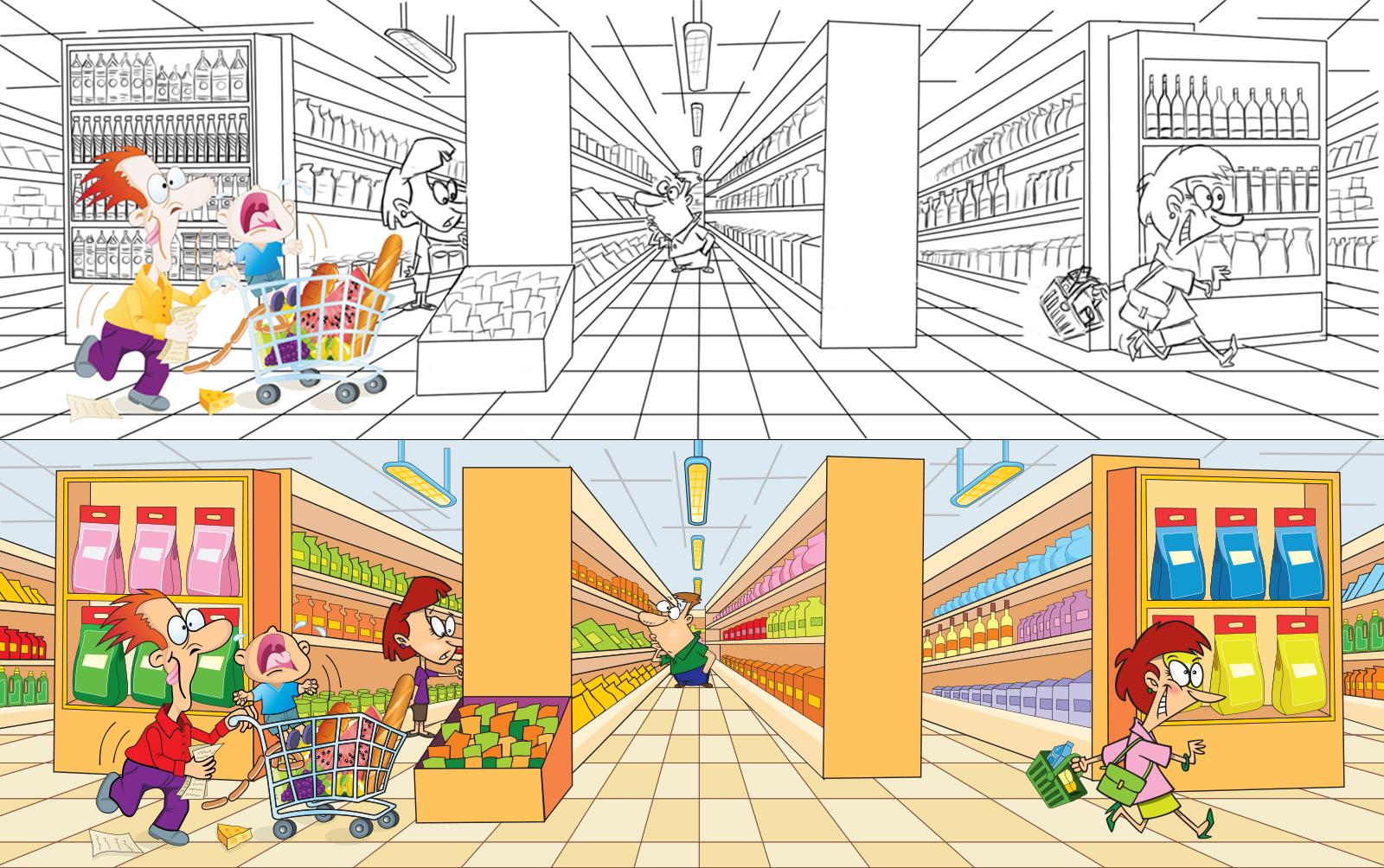 Комикс в магазине