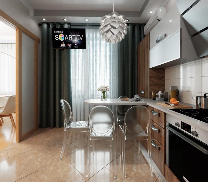 Рабочий проект кухни 3-х комнатной квартиры