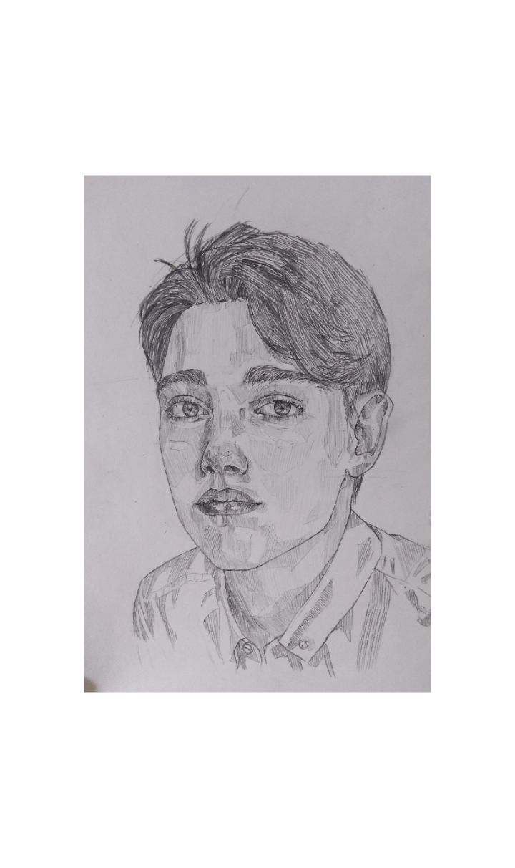 Портрет простым карандашом