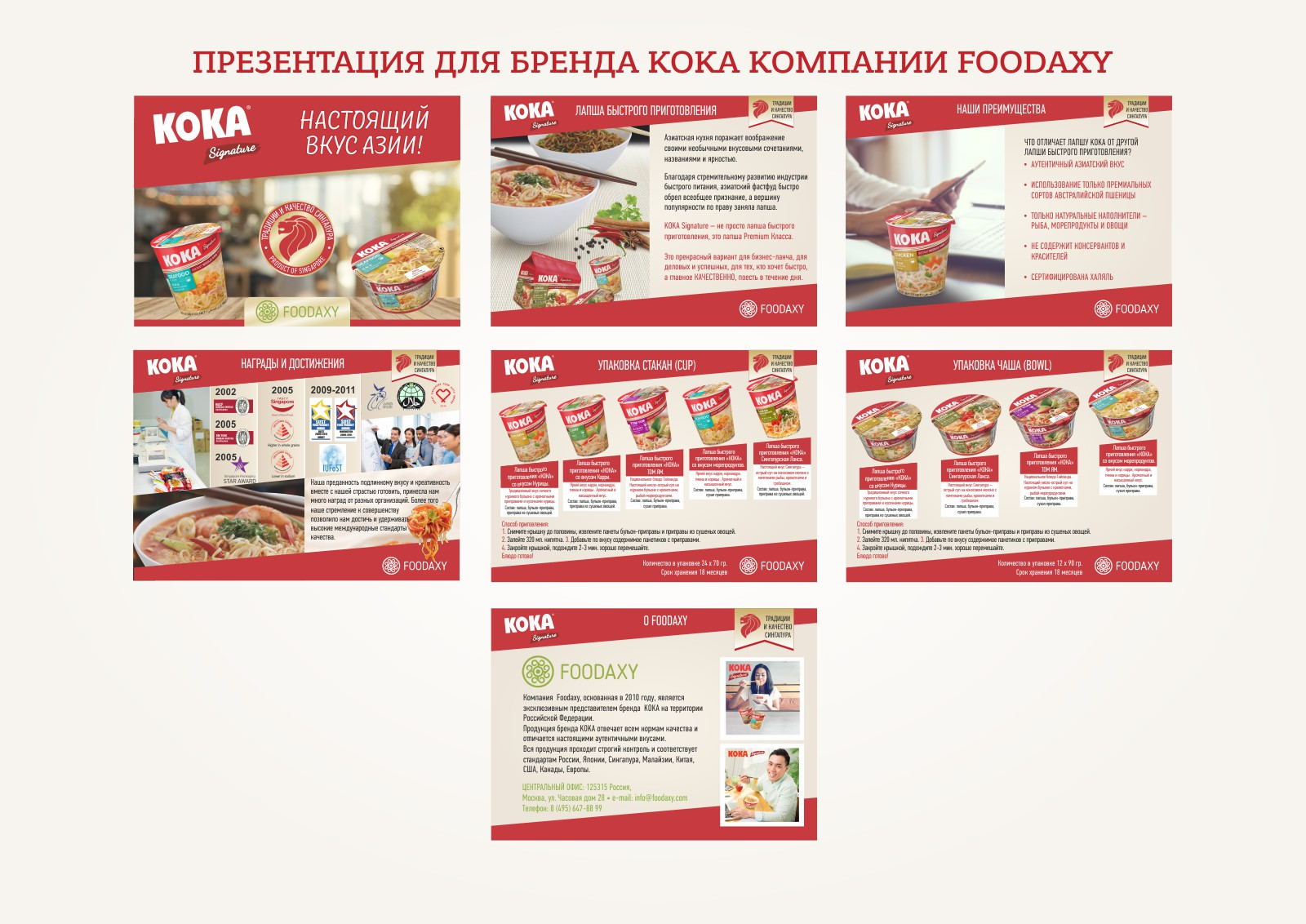 Презентация для бренда KOKA компании FOODAXY