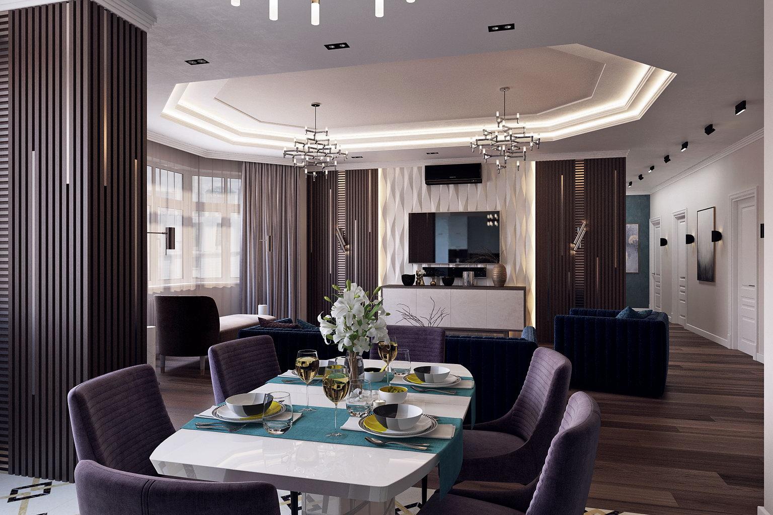 гостиная-кухня ЖК Небо