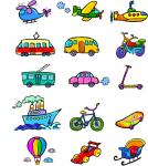 """Мини-иллюстрации """"транспорт"""""""