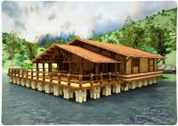 Визуализация бани на реке
