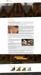 Сайт строительной фирмы, занимающейся срубами деревянных домов