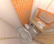 Ванная комната в кв 44 м.кв.