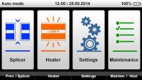 Интерфейс миниаппарата для сварки оптоволокна