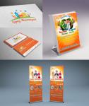 разработка лого и материалов для детского клуба