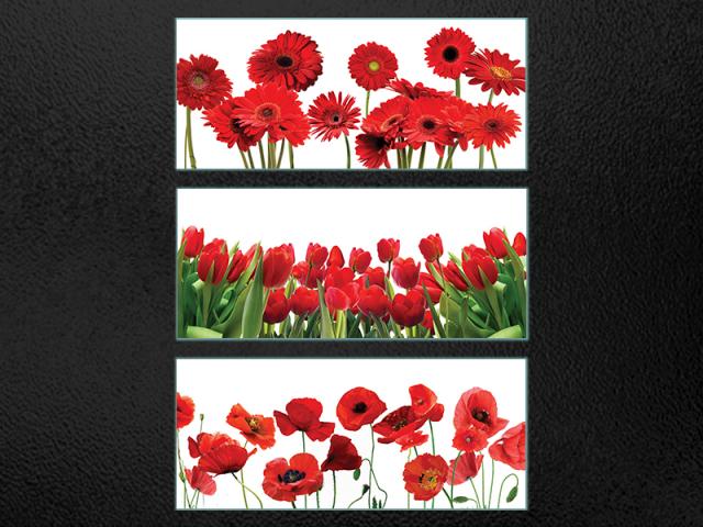 скинили - красные цветы