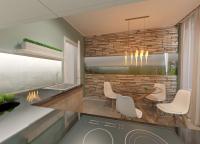 Дизайн кухни в стиле минимализм/эко и визуализация