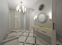 Дизайн коридора в эклектичном стиле и визуализация