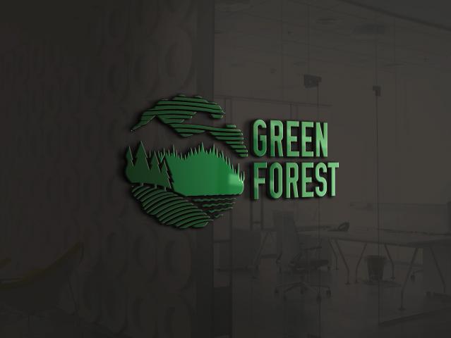 """Логотип для бренда угля """"Green Forest"""""""