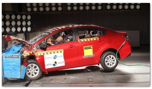 KIA Rio провалил тест безопасности Latin NCAP