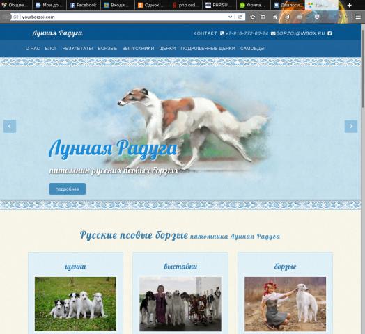 Сайт питомника русских псовых борзых