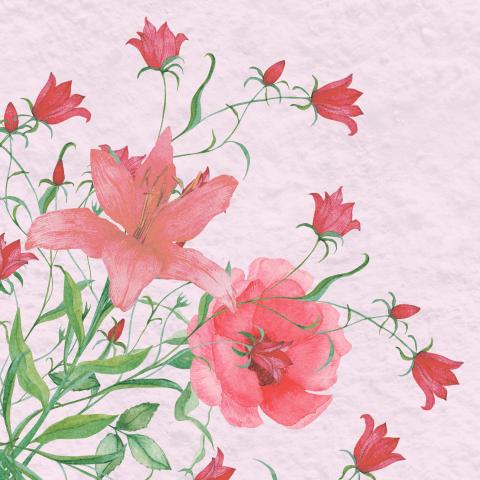 Цветочный принт