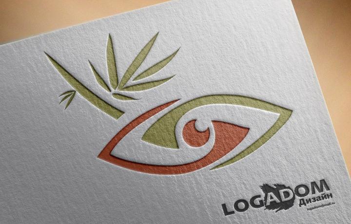 Лого + название.  Glamboo. Очки в бамбуковой оправе.