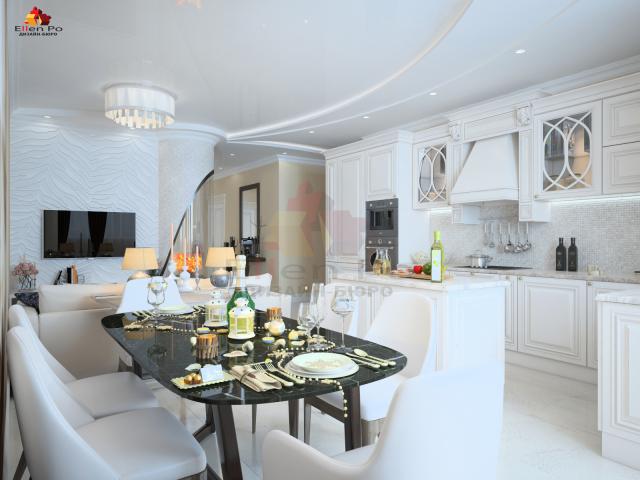Дизайн кухни гостиной соврменная классика