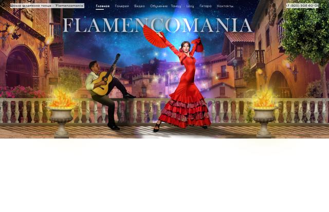 Дизайн шапки сайта flamencomania.ru (коллаж)